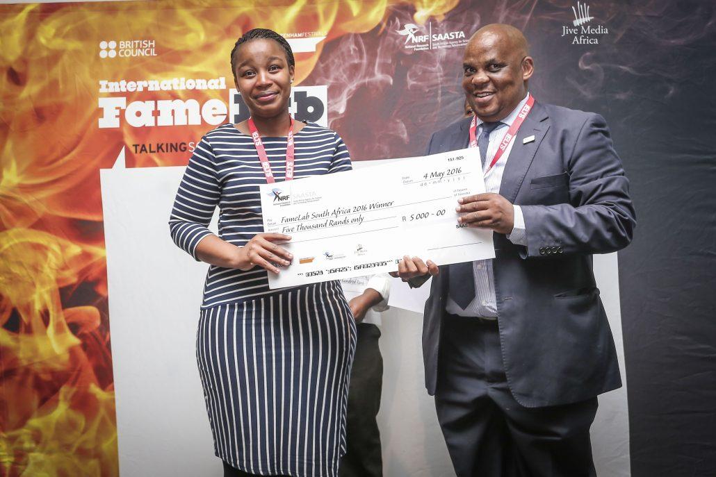Nozipho Gumbi FameLab South Africa 2016 Winner